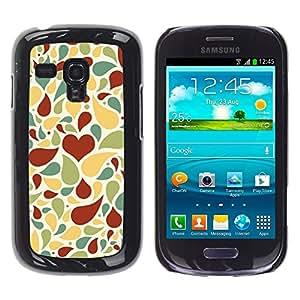 Be Good Phone Accessory // Dura Cáscara cubierta Protectora Caso Carcasa Funda de Protección para Samsung Galaxy S3 MINI NOT REGULAR! I8190 I8190N // Creative love pattern