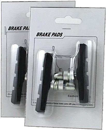 2 Pairs of 4ucycling V-brake Pad W/thread 4 Pads for 2 Caliper One Bike