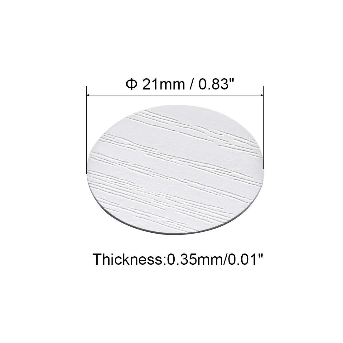 Pegatinas autoadhesivas para agujeros de tornillos Sourcingmap 1 21 mm 3 tapas de tornillos autoadhesivas a prueba de polvo madera de cerezo 54 en 1