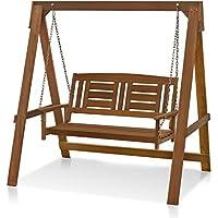 Furinno FG16409 Tioman Hardwood Porch Swing With Stand