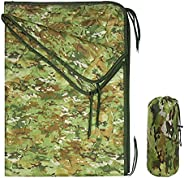 Echainstar Poncho Liner Wobbie Blanket Military with Zipper Lightweight Waterproof Puffy Camping Blanket with