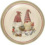 Boston International PG743010 IHR Round Dinner Paper Plates, 10.5-Inches, Friendly Tomte