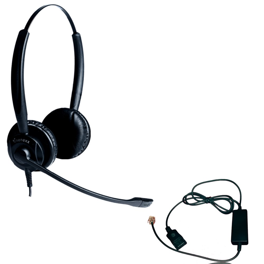 Polycom Compatible XS 825 Direct Connect Headset with Inteli Cord | SoundPoint Phones: IP450, IP501, IP550, IP560, IP601, IP650, IP670, VVX300, VVX310, VVX400s, VVX500, VVX600, VVX1500, CX300, CX600