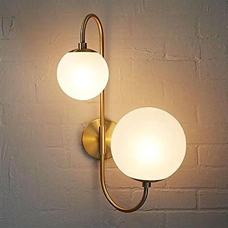 Homili Modern Globe Glass Wall Sconce Light Fixture Antique Brass ...