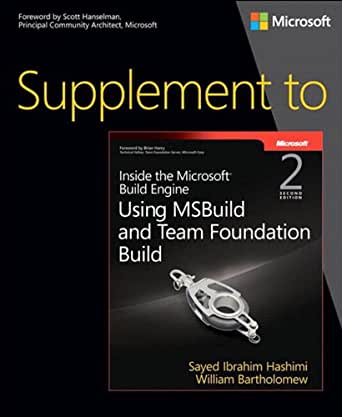 Amazon com: Supplement to Inside the Microsoft Build Engine: Using