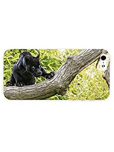 3d Full Wrap Case for iPhone ipod touch4 Animal Black Panther On The Tree