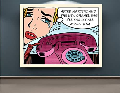 Amazon.com: Chanel is my true love Print Poster - Pop Art