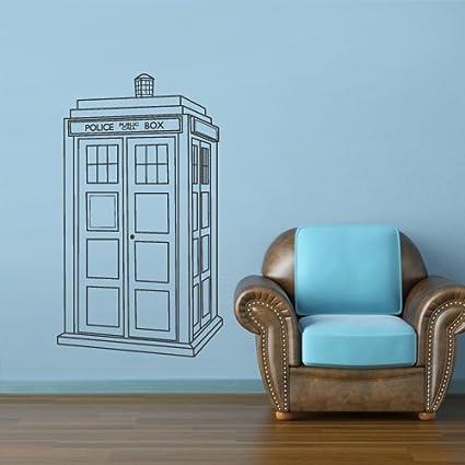Wall Decal Vinyl Sticker Decals Bedroom Dorm Art Decor Doctor Who Tardis  Police Box (Z2651