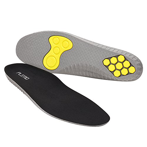 Plemo Gel Sports Shoe Insoles for Men Women, One Size Fits All with Cushioning Arch Support (Size 5-9)
