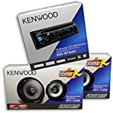 KENWOOD Car Audio Package Deal::1 Unit) KDC-BT362U + 2 Pairs) KFC-1665S