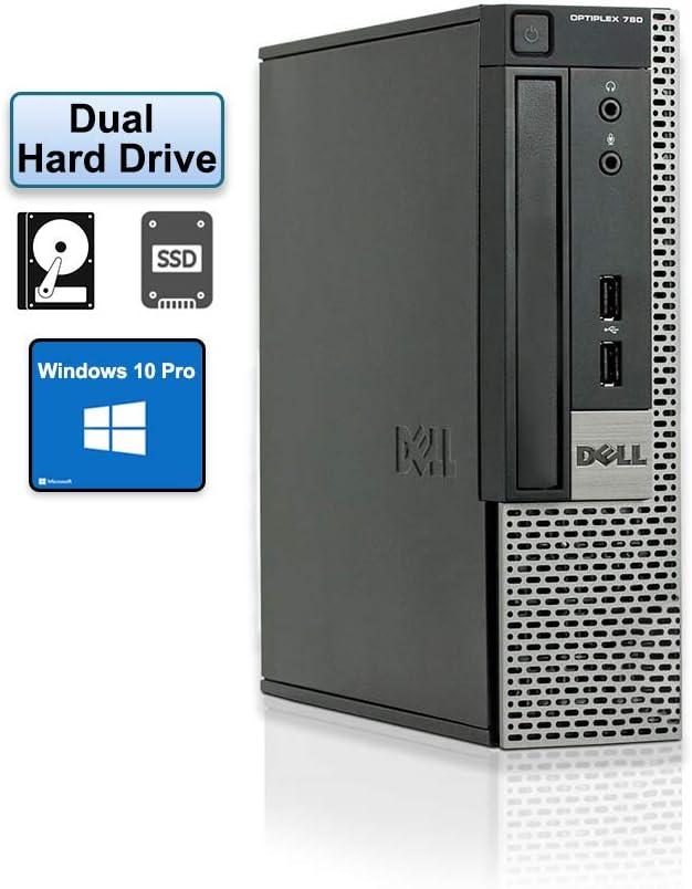 Dell OptiPlex 790 Dual-Hard Drive Ultra Small Form Factor Desktop PC - Intel i5-2400s up to 3.30 GHz - 8GB RAM - 120GB SSD + 500GB SATA Hard Drive - WiFi & Bluetooth - Windows 10 pro 64 bit (Renewed)
