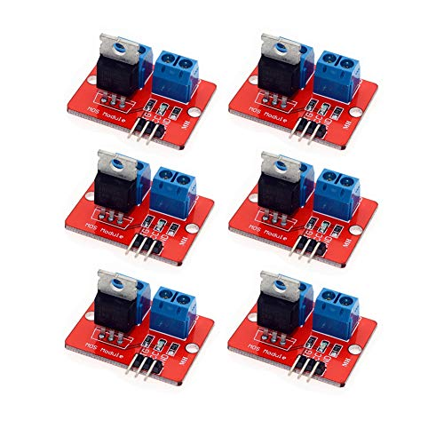 Onyehn 0-24V Top Mosfet Button IRF520 MOS Driver Module For Arduino MCU ARM Raspberry pi 6 Pack ()
