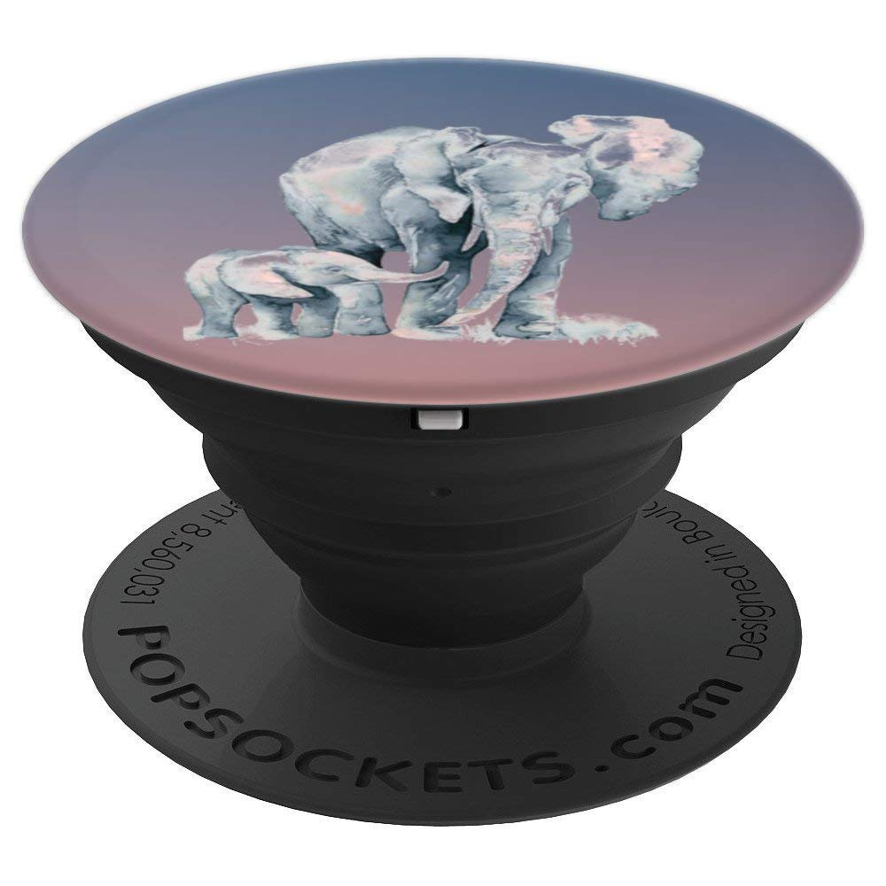 Beautiful Elephant Walk Parent Child Love - PopSockets Grip and Stand for Phones and Tablets