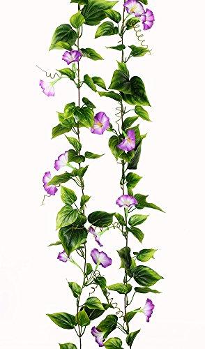 Yatim 2PCS(13FT) Artificial Flowers Ivy Vines Leaf Garland Plants for Hotel Wedding Arch Home Party Garden Craft Art Decor Purple -