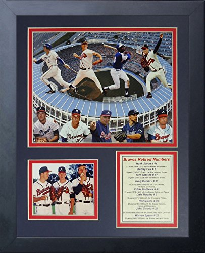 Legends Never Die Atlanta Braves Greats Framed Photo Collage, 11 by 14-Inch