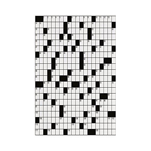 - Polyester Garden Flag Outdoor Flag House Flag Banner,Word Search Puzzle,Classical Crossword Puzzle with Black and White Boxes and Numbers Decorative,Black and White,for Wedding Anniversary Home Outdoo