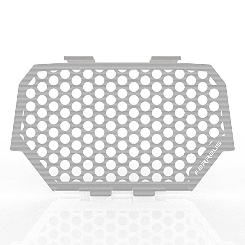 GRL-147-08-Brushed-b 2014-2016 Polaris RZR 1000 Circle Brushed Stainless Radiator Cover Grille Guard fits Ferreus Industries