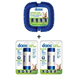Dooli Litter Genie Compatible Bag Adapter and 50 Bag Refills (Equals 8+ Name Brand Refills)