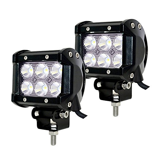 JAHURD-2-PCS-LED-Car-Lights-Spot-Beam-Driving-Fog-Lights-Bar-bottom-adjustable-Bracket-Waterproof-Work-for-Off-Road-SUV-4X4-Cars-Jeep-Boat-Outdoor