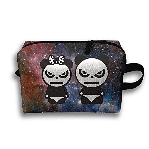 Panda Couple Fashion Unisex Travel Bag Small Items Collect Portable Toiletry Bag Organizer Storage by Greentyha