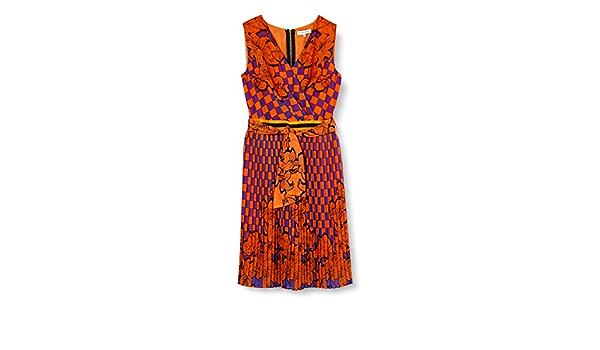 Silvian Heach Dress Mainpea(MB) Vestido, Rojo (F.Flame F ...