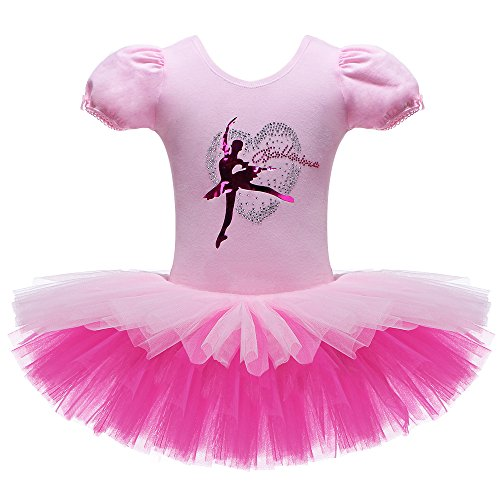 BAOHULU-Kids-One-Piece-Short-Sleeve-Sparkle-Rhinestone-Dance-Costumes-Tutu-Ballet-Dress-for-Little-Girls-3-8-Years
