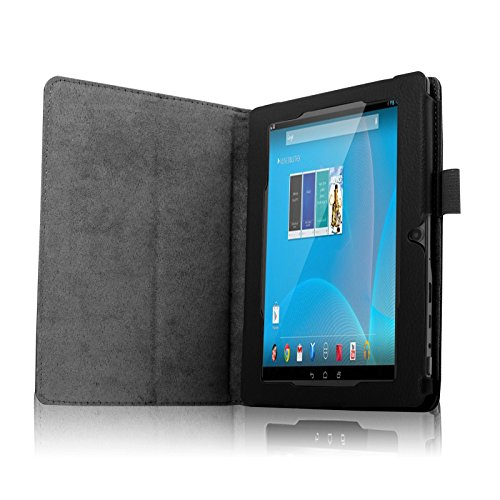 """Infiland Chromo 7"""" case - Folio PU Leather Slim Stand Case Cover for Chromo Inc 7 Inch Android Tablet, Black"""