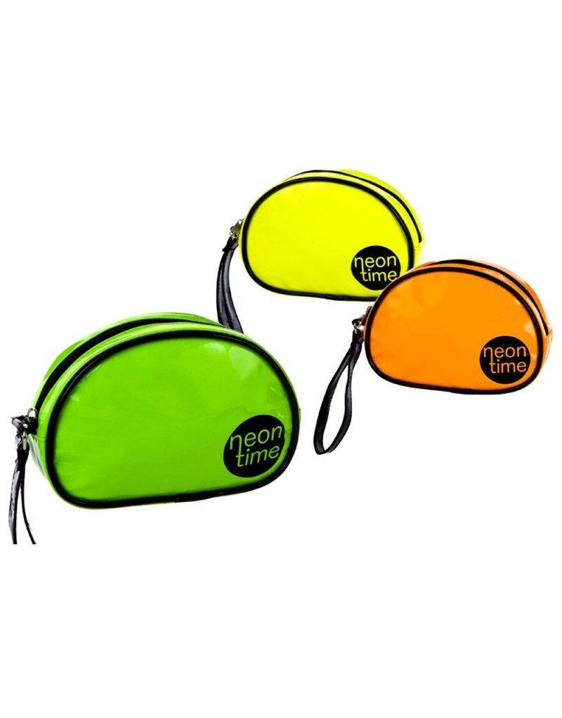 Home Line Neceser de mano con asa en color neon (21x6, 5x14 cm) pvc - Verde