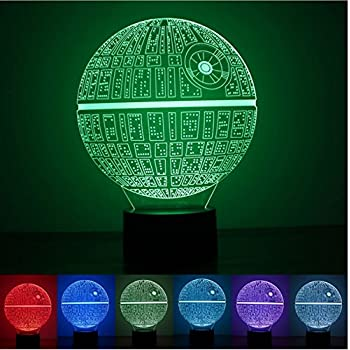 3D Novelty Light lampada led Death Star Table Lamp 3D Bulbing Light Touch Switch Lava Lamp Star Wars night light