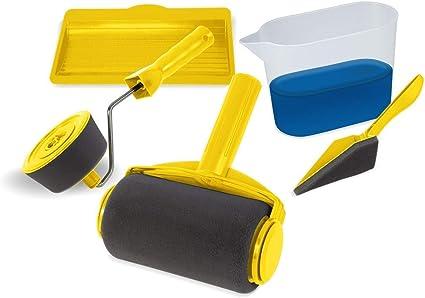 Kit De Rouleaux De Peinture Avec Reservoir Integre Facil Roller Application Sans Traces Sur Toute Surface Facile D Utilisation Amazon Fr Bricolage