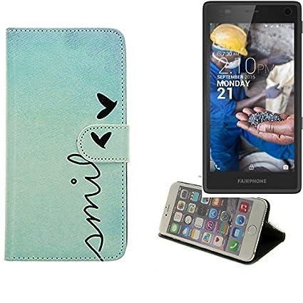 K-S-Trade® Für Fairphone Fairphone 2 Wallet Case Schutz Hülle Flip Cover Tasche