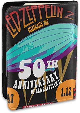Led Zeppelin レッド・ツェッペリン パスポートケース メンズ 男女兼用 パスポートカバー パスポート用カバー パスポートバッグ ポーチ 6.5インチ高級PUレザー 三つのカードケース 家族 国内海外旅行用品 多機能