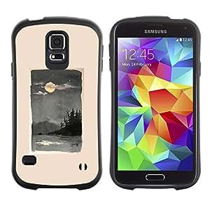 Suave TPU GEL Carcasa Funda Silicona Blando Estuche Caso de protección (para) Samsung Galaxy S5 / CECELL Phone case / / Moon Sea Nature Painting Waves /