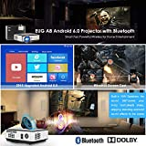 Wireless 2018 Android LCD Home Video Projector Wxga Support Full HD 1080P 3500 Lumen LED Image Movie Projectors with WiFi HDMI USBx2 Aux Audio VGA 10W Speakers Smart Multimedia Beamer