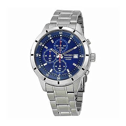 Seiko Chronograph Blue Dial Mens Watch SKS559 (Chronograph Seiko)