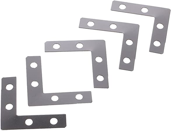 Baosity Wholesale 100 Pieces Metal L Shape Corner Brace Plate Flat Angle Bracket Picture Frame Fitting Framing Craft Supplies