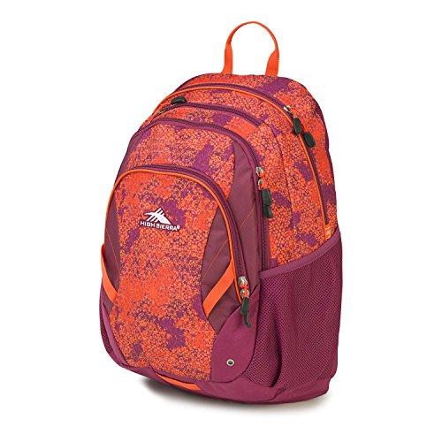 High Sierra Neenah Backpack, Moroccan Tile/Berry Blast/Redline by High Sierra