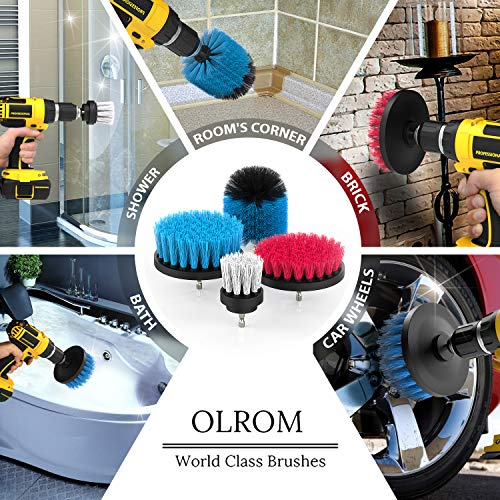 Scouring Pad Brush Electric Drill Clean Kitchen Floor Hard: Drill Attachment Power Scrubber