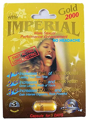 Imperial 2000mg GOLD Male Sexual Performance Enhancement Pill 6 PK (Pill Enhancement Male Performance)
