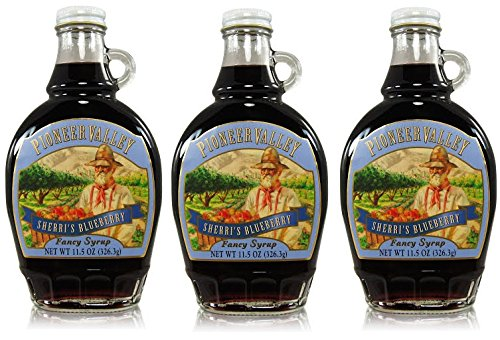 Pioneer Valley Gourmet Sherri's Blueberry Fancy Syrup 11.5 oz. - 3 pack by Pioneer Valley