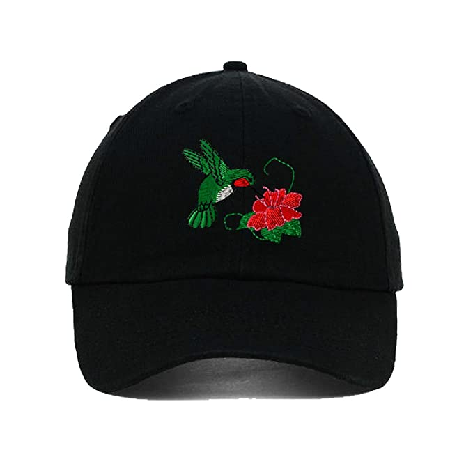 0956d5be888 Image Unavailable. Image not available for. Color  Speedy Pros Hummingbird  Embroidery Twill Cotton 6 Panel Low Profile Hat Black