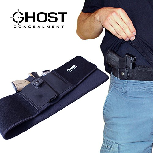 Ghost Concealment Belly Band Holster for Concealed Carry | IWB Gun Holsters | Right Handed Men and Women ()