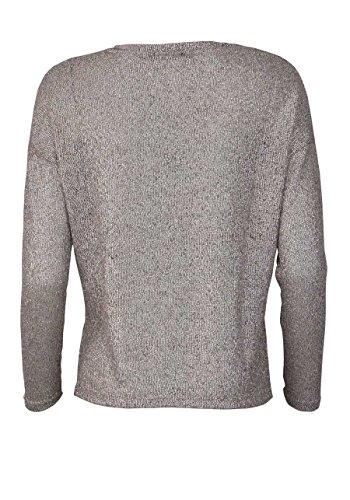 ONLY Langarm Pullover Rundhals Oversize metallic rosa