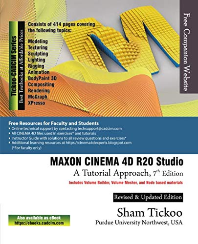 (MAXON CINEMA 4D R20 Studio: A Tutorial Approach, 7th Edition)