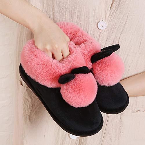 Algodón Lhxyx Suela Femeninas Felpa E De Cálidos 11 Invierno Otoño Gruesa Zapatillas Zapatos Interiores ggqWEH8r