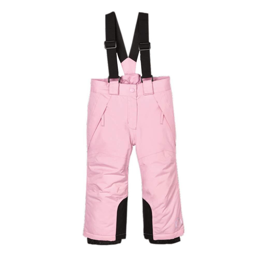 UDIY Kids Girls' Waterproof Skiing Bibs Thick Warm Snow Pants Pink Ski Overalls 2-3 Years by UDIY