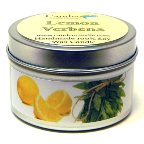 Lemon Verbena, Super Scented Soy Candle Tin (4 oz) -