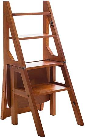 Taburete de escalera Taburete simple Escalera Escalera de escalera Taburetes de baño Escalera plegable de doble uso Escalera de madera para el hogar Silla de bebé Escalera para el hogar Estantes: Amazon.es: