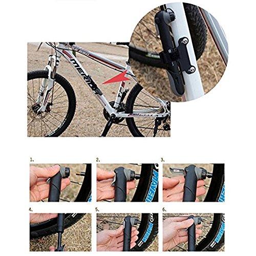 Aus Aluminium,F/ür Presta und Schrader Luftventile mit Glueless Puncture Repair Kit und Reifenheber 120PSI Teleskopische Mini Fahrrad Luftpumpe Anleitung bei DigHealth