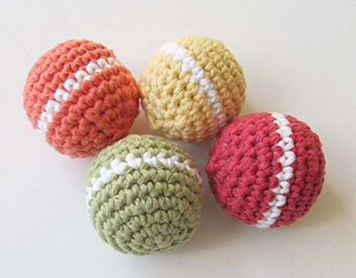 Natural Cotton Dog Toy Balls, No Squeaker Added by K Farms Natural Gifts